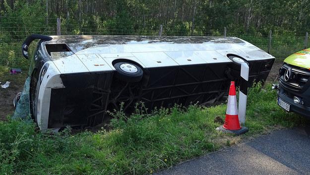 Wypadek polskiego autokaru /FERENC DONKA /PAP/EPA