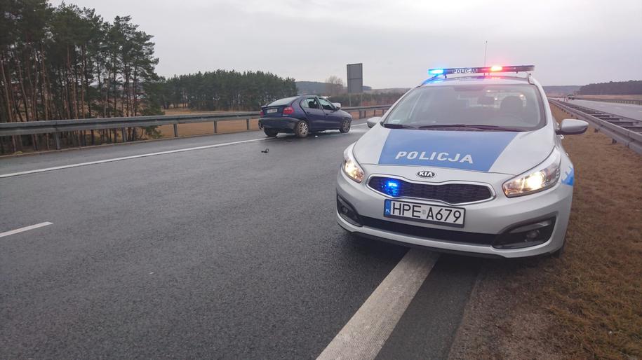 Wypadek pomiędzy Międzyrzeczem a Świebodzinem /Policja