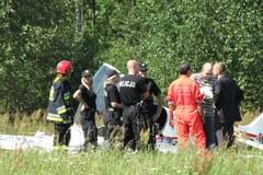 Wypadek samolotu sportowego w Łodzi