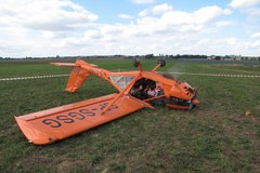 Wypadek samolotu w podkrakowskim Pobiedniku