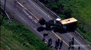 Wypadek szkolnego autobusu, 1 osoba nie żyje