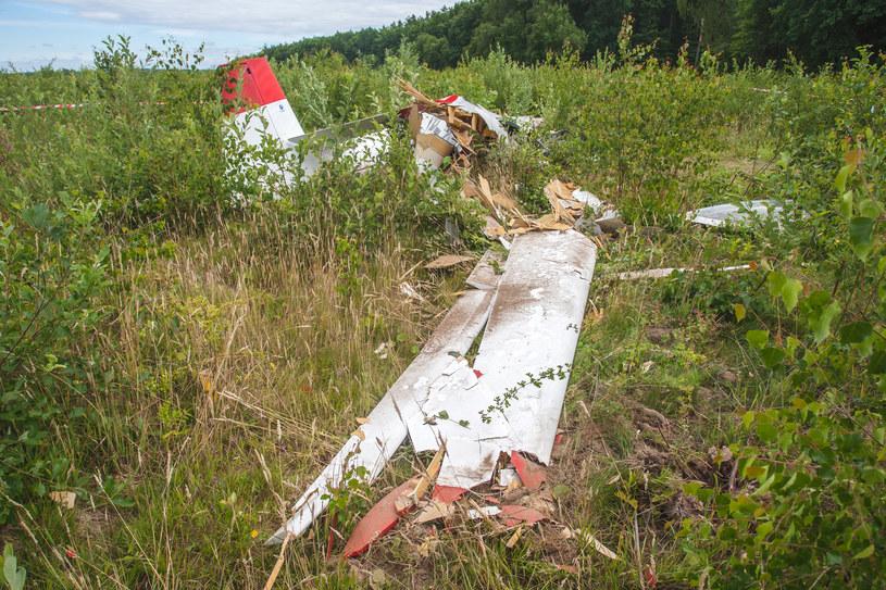 Wypadek szybowca w miejscowości Łupiny koło Krępy Słupskiej /LUKASZ CAPAR/POLSKA PRESS /East News