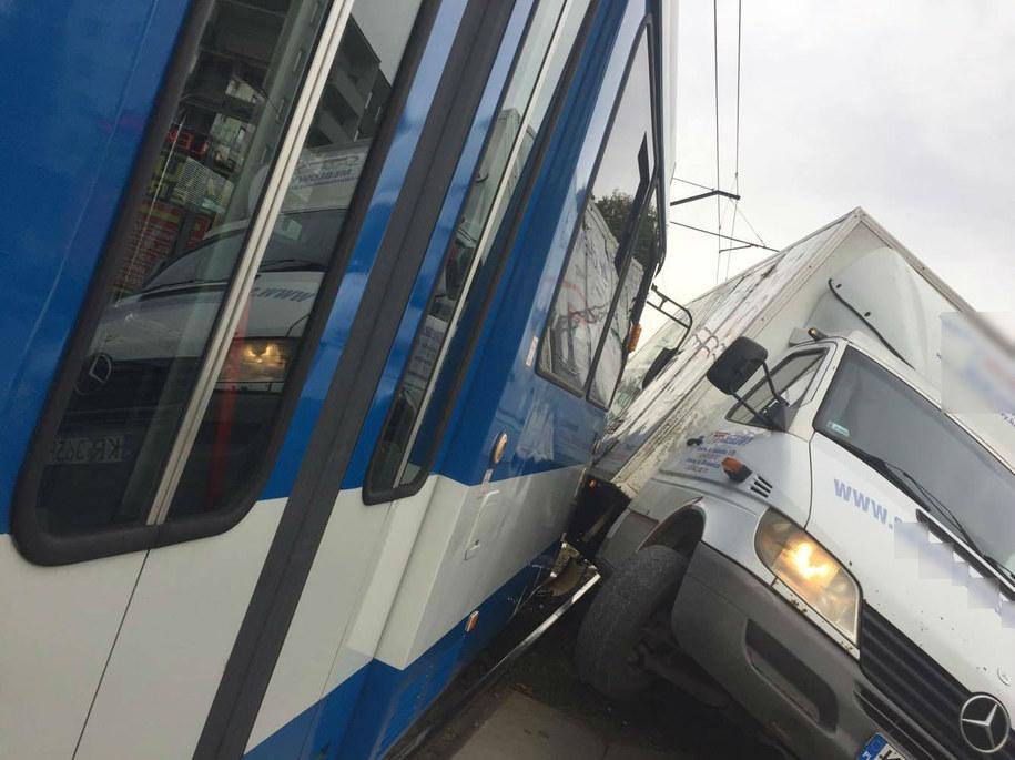 Wypadek tramwaju na ul. Wielickiej /Wacław /Gorąca Linia RMF FM