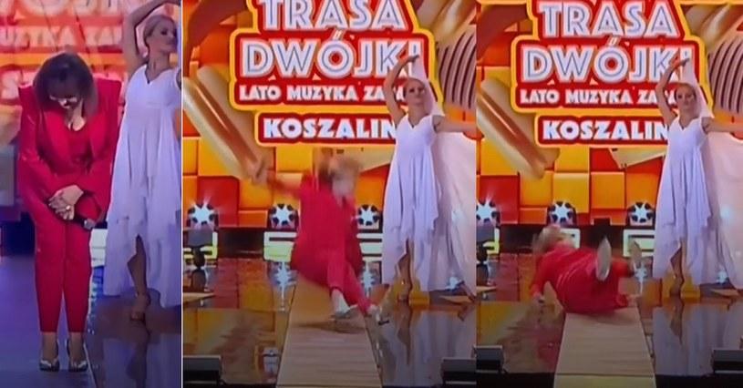 Wypadek Trojanowskiej na scenie /TVP /materiał zewnętrzny
