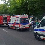 Wypadek ukraińskiego autokaru pod Garwolinem