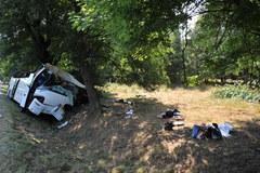 Wypadek ukraińskiego autokaru w Górznie-Kolonii