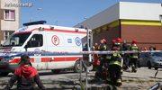 Wypadek w Bartoszycach. Auto zostawione na luzie stoczyło się na bazar