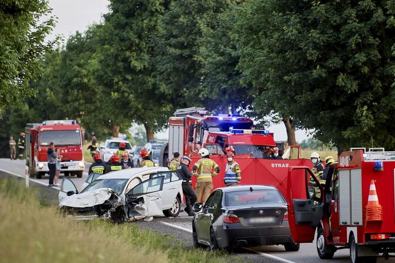 Wypadek w Borczu / Adam Warżawa    /PAP