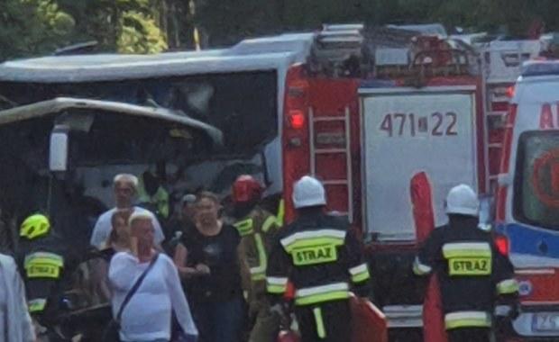 Wypadek w Dźwirzynie. Kilkanaście osób rannych