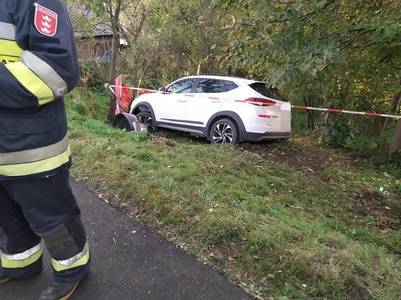 Wypadek w Gilowicach /OSP Gilowice /materiały prasowe