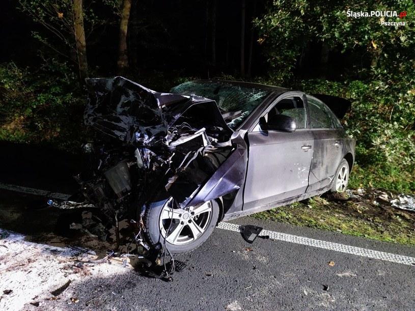 Wypadek w Jankowicach /KPP w Pszczynie /materiały prasowe