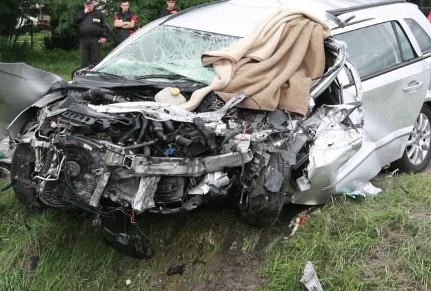 Wypadek w Kobylnikach. Dwie ofiary śmiertelne /PAP