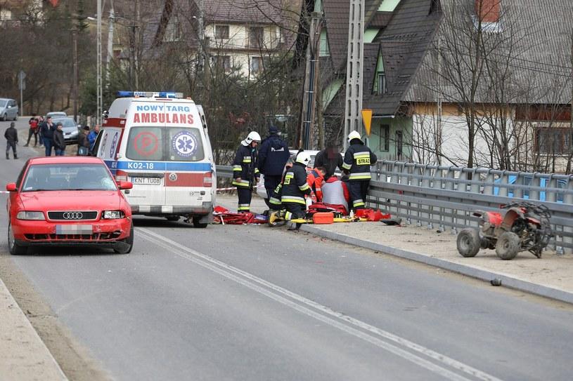 Wypadek, w którym ciężko ranny został jadący quadem 9-latek. Dziecko zmarło w szpitalu /Michał Adamowski /Reporter