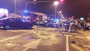 Wypadek w Łodzi. Pięć osób poszkodowanych
