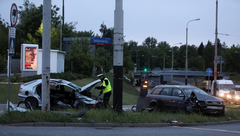 Wypadek w Łodzi. Ranne 4 osoby, w tym 3 dzieci