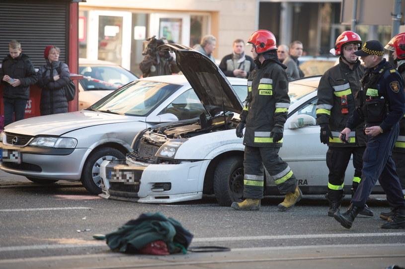 Wypadek w Łodzi /Grzegorz Michałowski /PAP