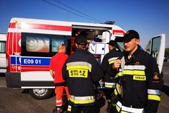Wypadek w Łódzkiem w okolicach miejscowości Jarosty