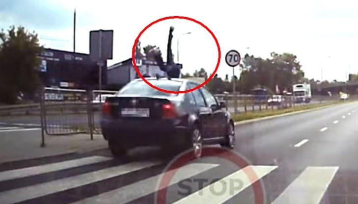 Wypadek w Lublinie /Stop Cham /YouTube