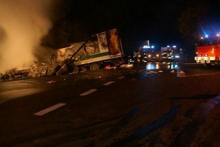 Wypadek w miejscowości Rokciny /Policja