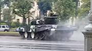 Wypadek w Mińsku. Czołg wpadł w poślizg w centrum miasta