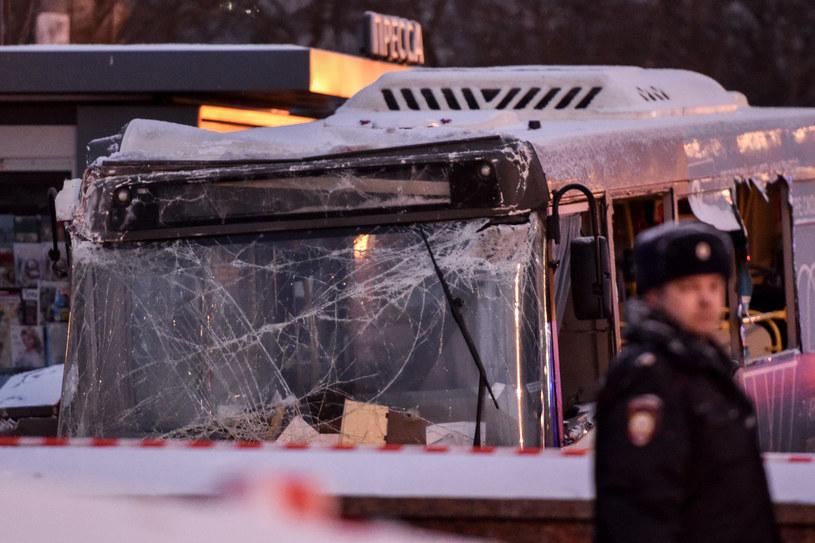 Wypadek w Moskiwe /AFP