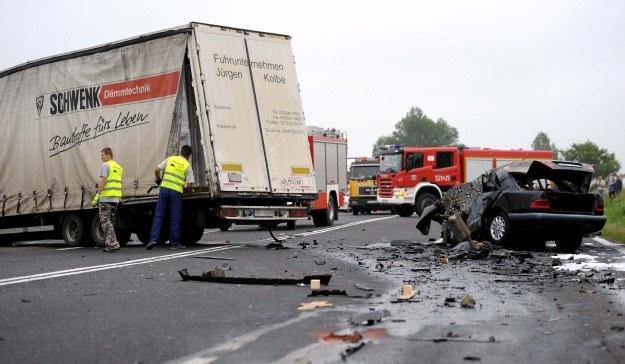 Wypadek w Nowosielcach. /PAP