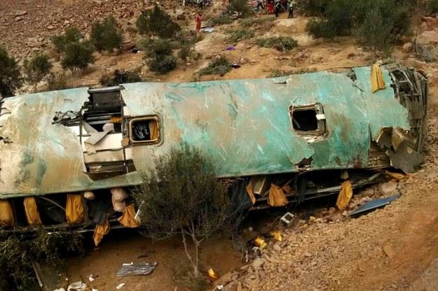Wypadek w Peru /PAP/EPA/Andina /PAP/EPA