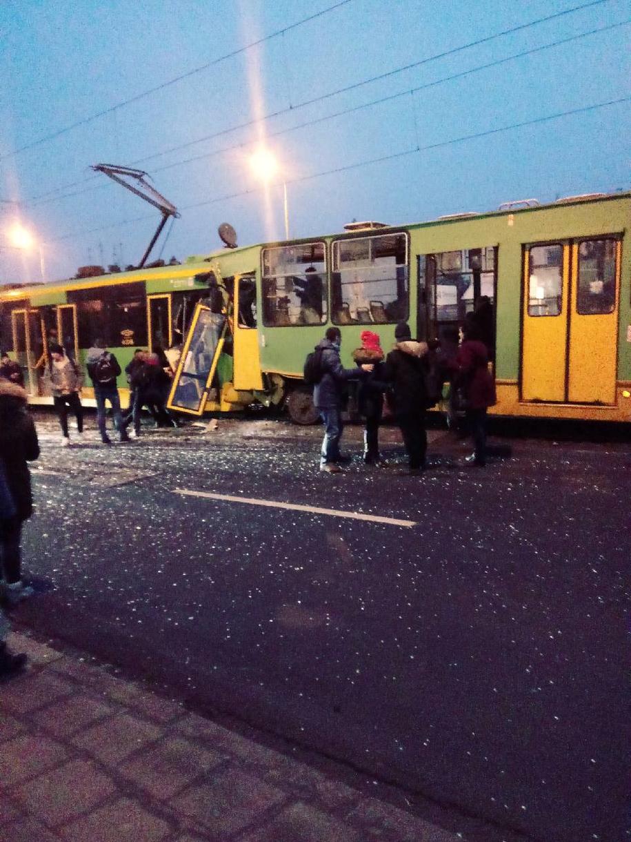 Wypadek w Poznaniu /Gorąca Linia RMF FM /Gorąca Linia RMF FM