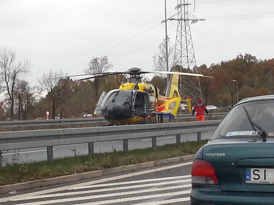 Wypadek w Siewierzu /foto. Michał /Gorąca Linia RMF FM