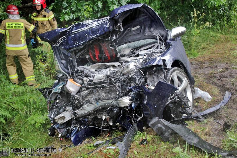 Wypadek w Stalowej Woli /Tarnobrzeg 112 - Ratownictwo Powiatu Tarnobrzeskiego /facebook.com