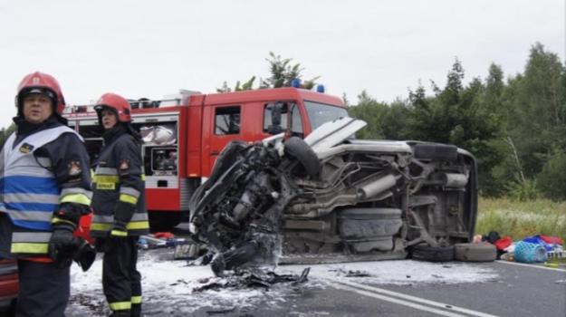 Wypadek w Turowie /TVN24.pl