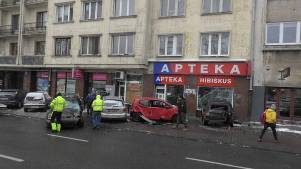 Kolizja na Mokotowie w Warszawie