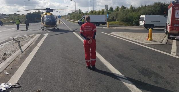 Wypadek wydarzył się na skrzyżowaniu obwodnicy Olecka (droga krajowa nr 65) z drogą wojewódzką 655 /PSP Olecko /PSP