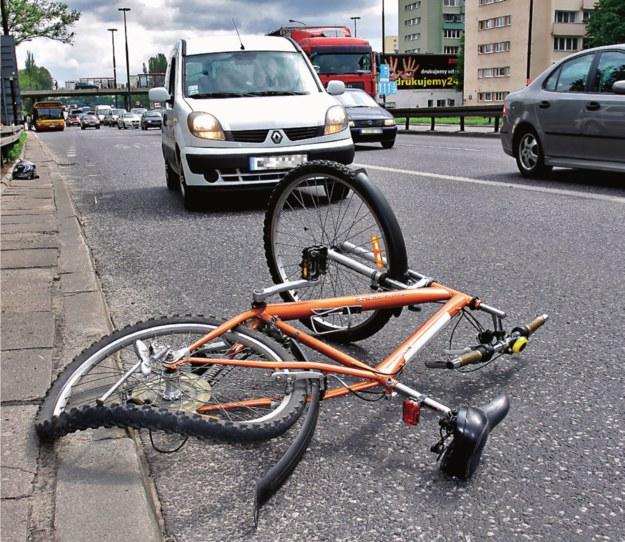 wypadek z rowerem /Motor