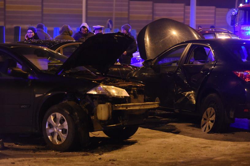 Wypadek z udziałem auta Antoniego Macierewicza /Grzegorz Olkowski /East News