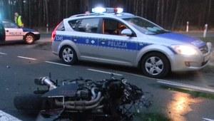Wypadek z udziałem motocyklisty