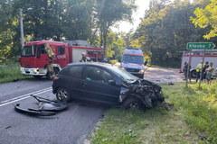 Wypadek z udziałem radiowozu koło Waliszewa