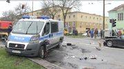 Wypadek z udziałem radiowozu w Lublinie. 5 osób zostało rannych