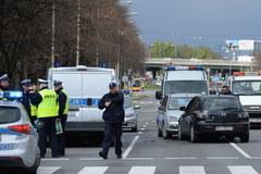 Wypadek z udziałem radiowozu w Warszawie