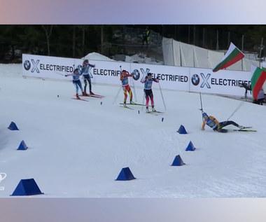Wypadki i śmieszne momenty. Tak wyglądał biathlonowy sezon 2019/20. Wideo