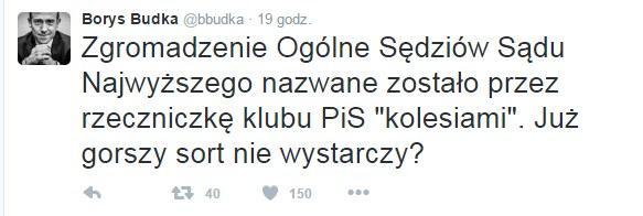 Wypowiedź Borysa Budki na Twitterze /Twitter
