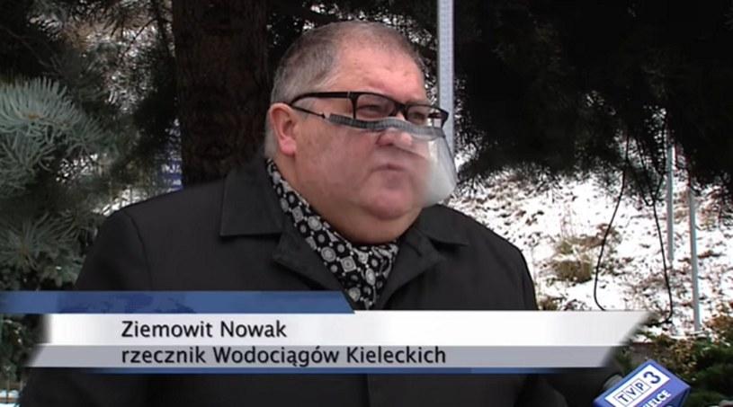 Wypowiedź rzecznika Wodociągów Kieleckich o awariach w mieście stała się hitem internetu /TVP3 Kielce /facebook.com