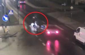 Wyprzedził pojazd przed przejściem, potrącił pieszą