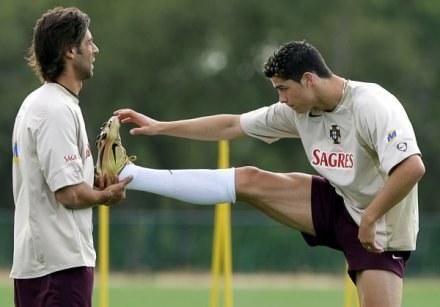 Wysłannicy Interu oglądali młodego Cristiano na treningu w Portugalii /AFP