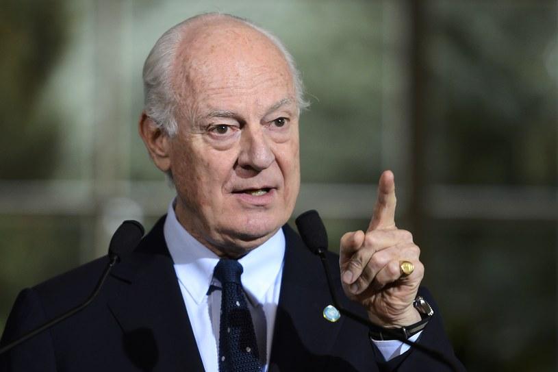 Wysłannik sekretarza generalnego ONZ do Syrii Staffan de Mistura /AFP