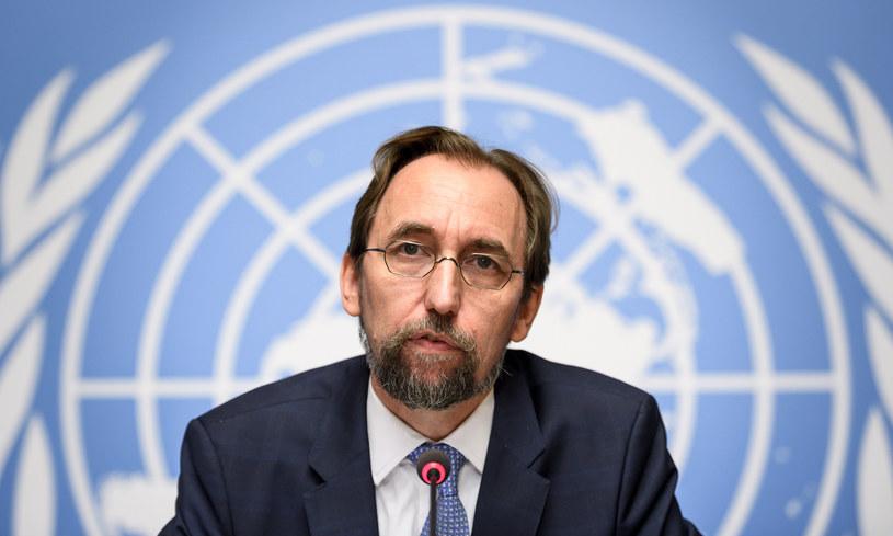 Wysoki Komisarz Narodów Zjednoczonych ds. praw człowieka (UNHCHR) Zeid Ra'ad al-Hussein /FABRICE COFFRINI /AFP