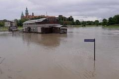 Wysoki stan wody na Wiśle w Krakowie