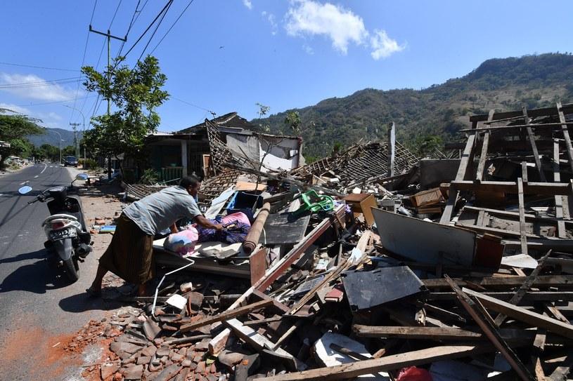 Wyspa Lombok po trzęsieniu ziemi /ADEK BERRY/AFP /AFP