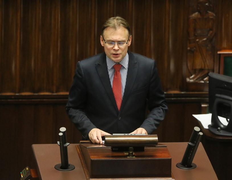 Wystąpienie Arkadiusza Mularczyka z Prawa i Sprawiedliwości /Tomasz Gzell /PAP