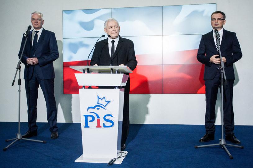 Wystąpienie liderów Zjednoczonej Prawicy ; fot. archiwalne /Paweł Wisniewski /East News
